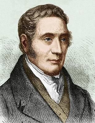George Stephenson (1781-1848) Print by Sheila Terry