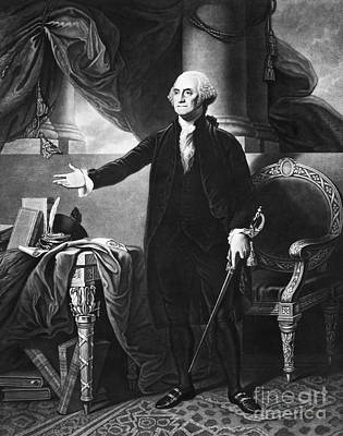 George Washington, 1st American Print by Omikron