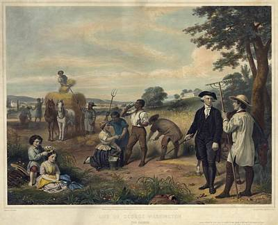 George Washington As A Plantation Print by Everett