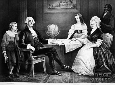 George Washington Family Print by Granger