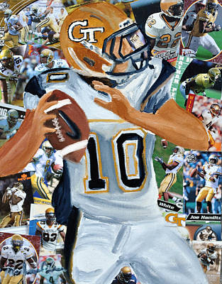 Georgia Tech Quarterback Print by Michael Lee