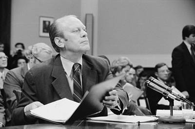 Gerald Ford Told The House Judiciary Print by Everett