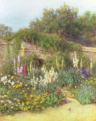 Gertrude Jekyll's Garden Print by Helen Allingham