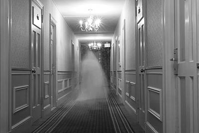 Haunted House Photograph - Ghost In The Hall At The Hawthorne by Steve And Donna O'Meara