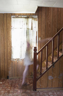 Unexplained Photograph - Ghost On The Stairs Thunder Bay Ontario by Susan Dykstra