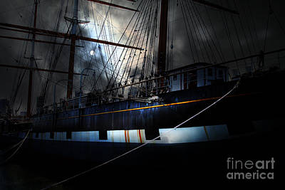 Ghost Ship Of The San Francisco Bay . 7d14153 Print by Wingsdomain Art and Photography