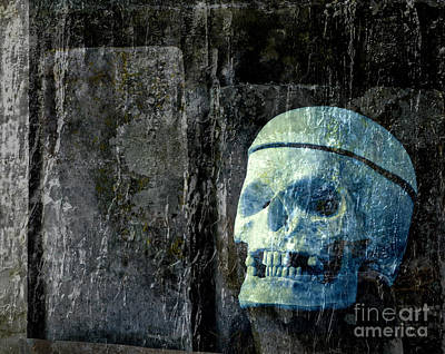 Grave Photograph - Ghost Skull by Edward Fielding