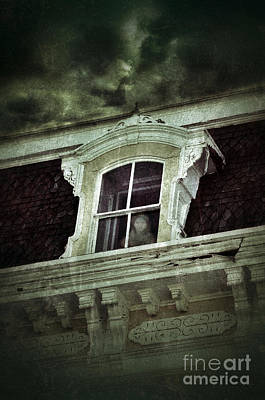 Haunted House Photograph - Ghostly Girl In Upstairs Window by Jill Battaglia