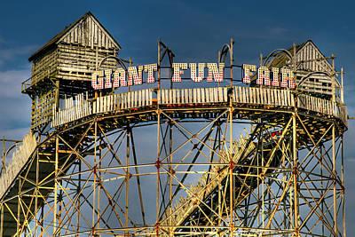 Roller Coaster Photograph - Giant Fun Fair by Adrian Evans