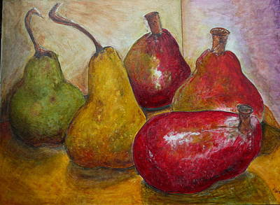 Malone Painting - Giant Pears by Mark Malone