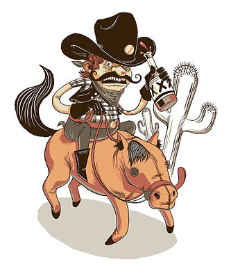 Giddy Up Print by Michael Myers