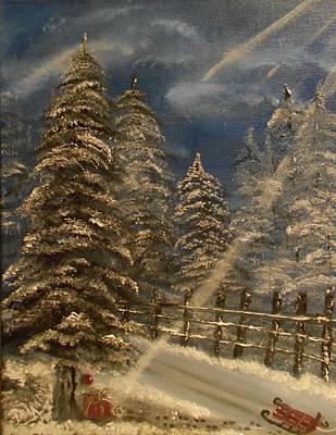 Gift For Santa Print by Mary DeLawder