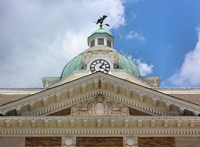 Weathervane Photograph - Giles County Courthouse Details by Kristin Elmquist