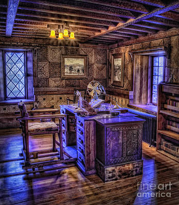 Gillette Castle Office Hdr Print by Susan Candelario