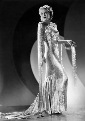 Gold Lame Photograph - Ginger Rogers, Ca. 1930s by Everett