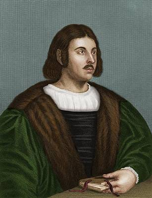Giovanni Boccaccio, Italian Humanist Print by Maria Platt-evans