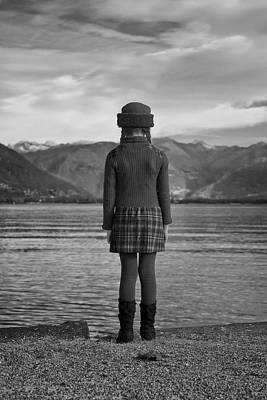 Girl At A Lake Print by Joana Kruse