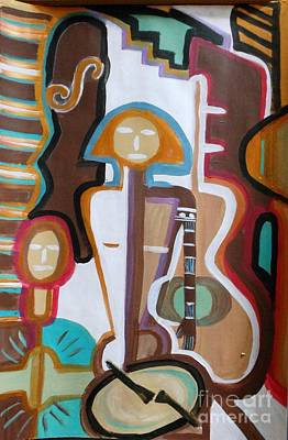 Clapping Painting - Girl Band by Marie Bulger