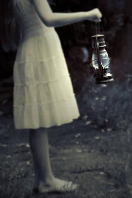Girl With An Oil Lamp Print by Joana Kruse