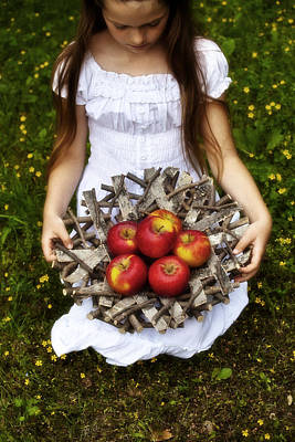 Apple Photograph - Girl With Apples by Joana Kruse