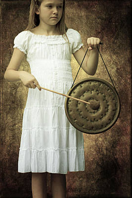 Gong Photograph - Girl With Gong by Joana Kruse