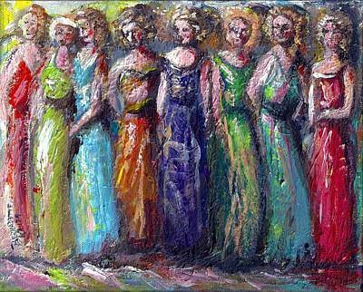 Girls Night Out Print by Bernadette Krupa