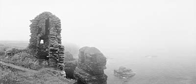 Girnigoe In Fog Original by Jan Faul