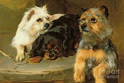 Hind Painting - Give A Poor Dog A Bone by George Wiliam Horlor