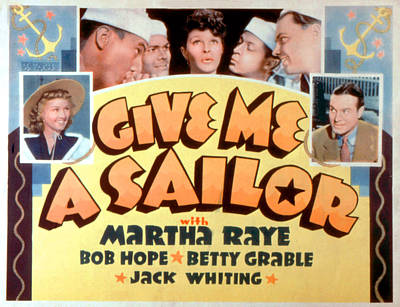 Give Me A Sailor, Betty Grable Left Print by Everett