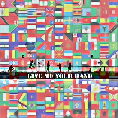 Other Worlds Digital Art - Give Me Your Hand by Stefan Kuhn