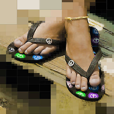 Ankle Bracelet Photograph - Give Peace A Chance by Kathy Clark