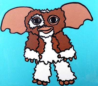 Character Portraits Painting - Gizmo by Jera Sky