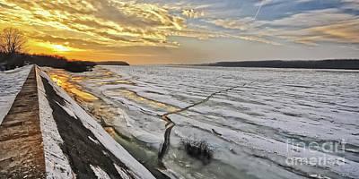 Glaciation Of The Danube. Print by Evmeniya Stankova