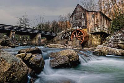 Grist Mill Digital Art - Glade Creek Grist Mill  by Wade Aiken