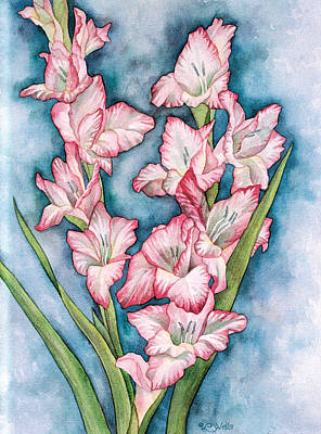 Gladiolas Painting - Gladiola Painting by Linda Wells