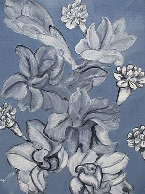 Gladiolas And Carnations Print by Suzanne Buckland