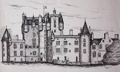 Glamis Castle Print by Sheep McTavish