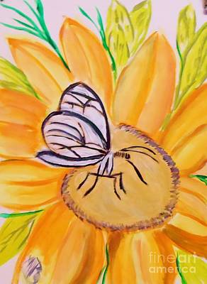 Glass Winged Butterfly Print by Marie Bulger