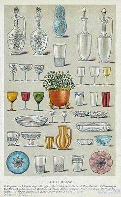 Tableware Photograph - Glassware, Historical Artwork by Mid-manhattan Picture Collectionglassnew York Public Library