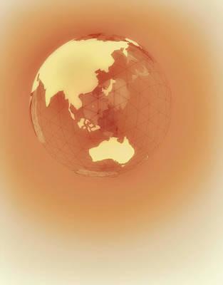 Globe Of Eastern Hemisphere Print by Jason Reed
