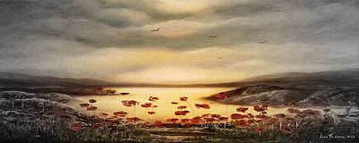 Glory - Panoramic Sunset 2 Print by Gina De Gorna