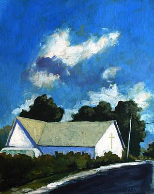Born Again Painting - Glory Barn by Charlie Spear