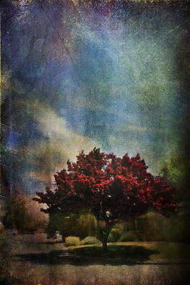 Red Leaf Digital Art - Glory by Laurie Search