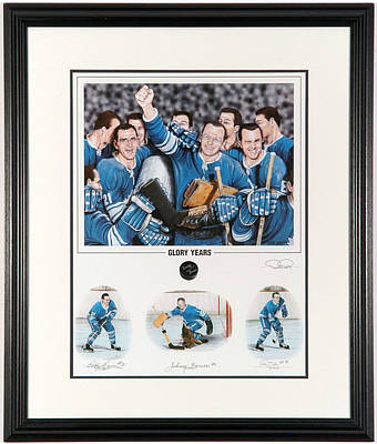 Art Of Hockey Mixed Media - Glory Years Limited Edition by Daniel Parry