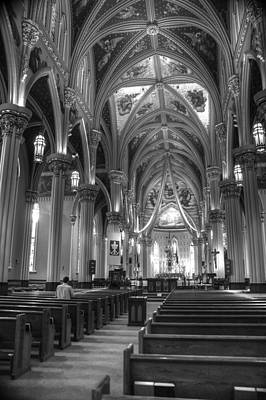 Notre Dame Photograph - God Do You Hear Me Black And White by Ken Smith