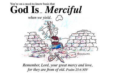 Mercy Drawing - God Is Merciful by George Richardson