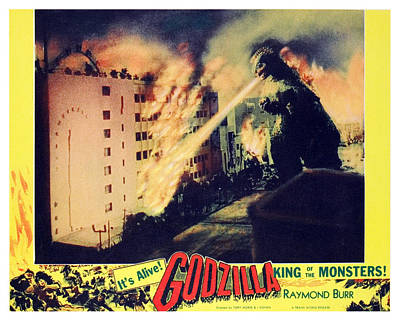 Godzilla, King Of The Monsters, 1956 Print by Everett