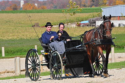 Amish Community Photograph - Going Home by Lisa  DiFruscio