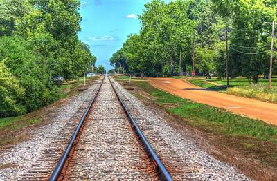 Railroad Photograph - Going Somewhere by Barry Jones
