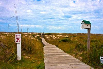 Beach Landscape Digital Art - Going To The Beach by Betsy C Knapp